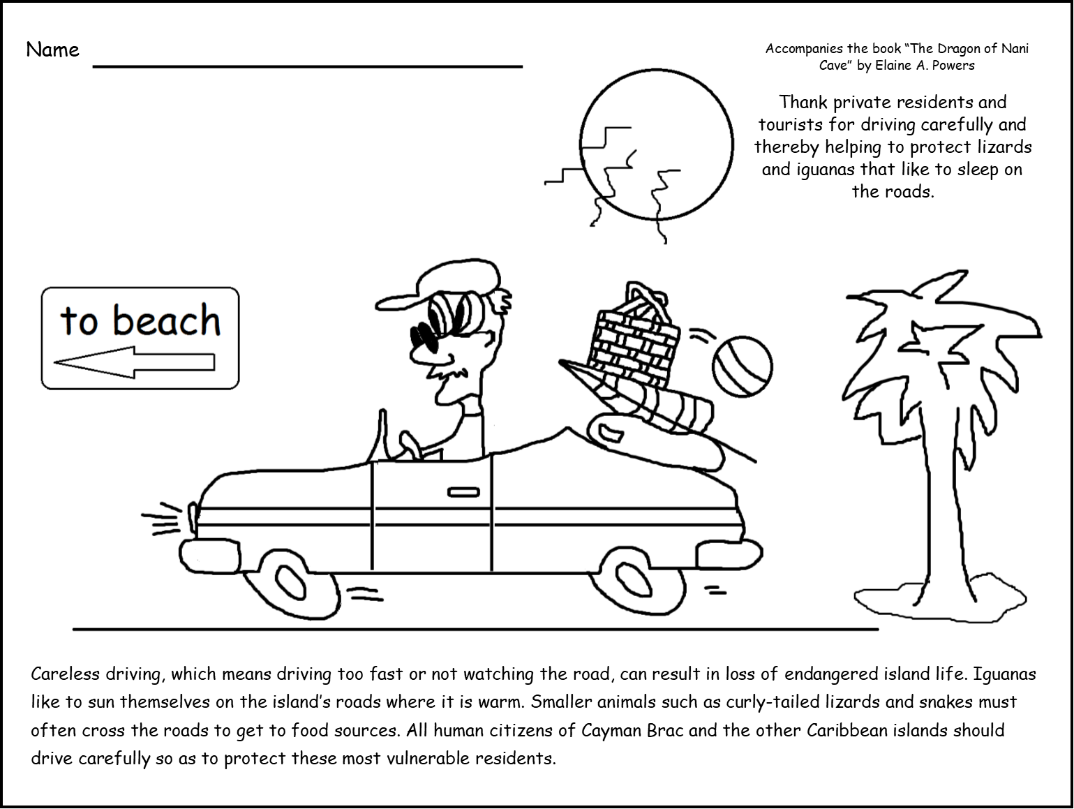 Five Ways We Can Protect Wildlife on Cayman Brac Coloring Book ...
