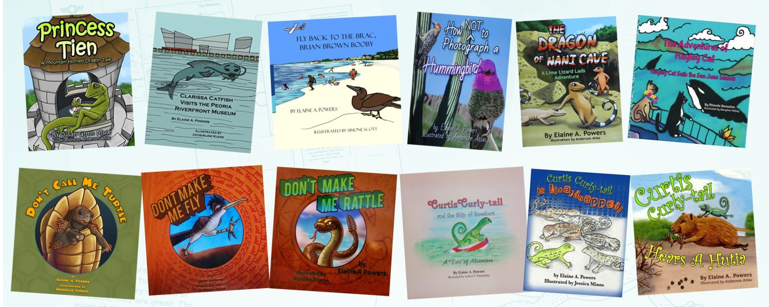 A grouping of the covers of children's books published by Lyric Power Publishing