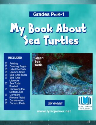 book cover my book about sea turtles
