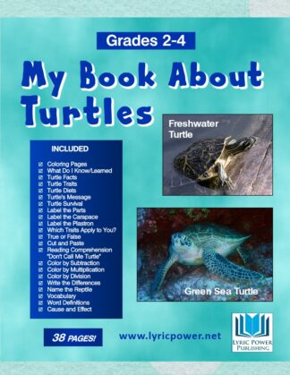 book cover my book about turtles grades 2-4