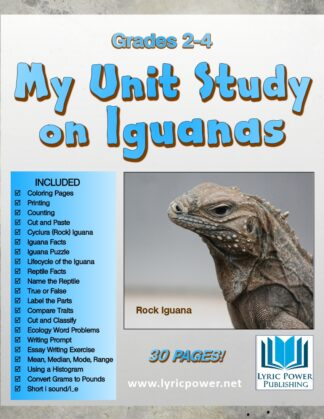 book cover my unit on iguanas grades 2-4