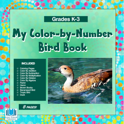 a light green and dark green book cover with the image of a duck in water