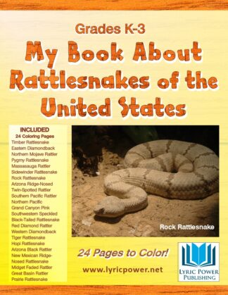 Book Cover Coloring Book US Rattlesnakes