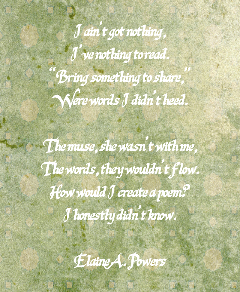 stanzas of a poem on mottled green paper