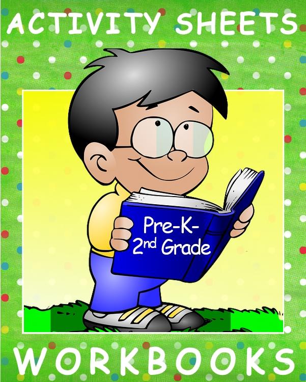 Illustration colorful little boy holding book for kindergartner