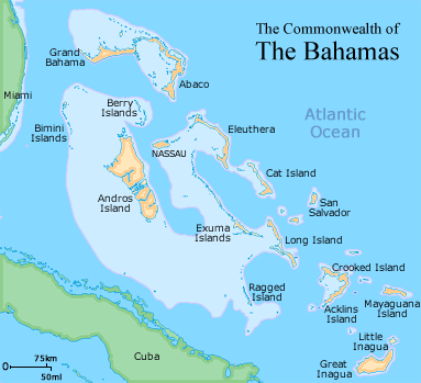 map of bahamian islands
