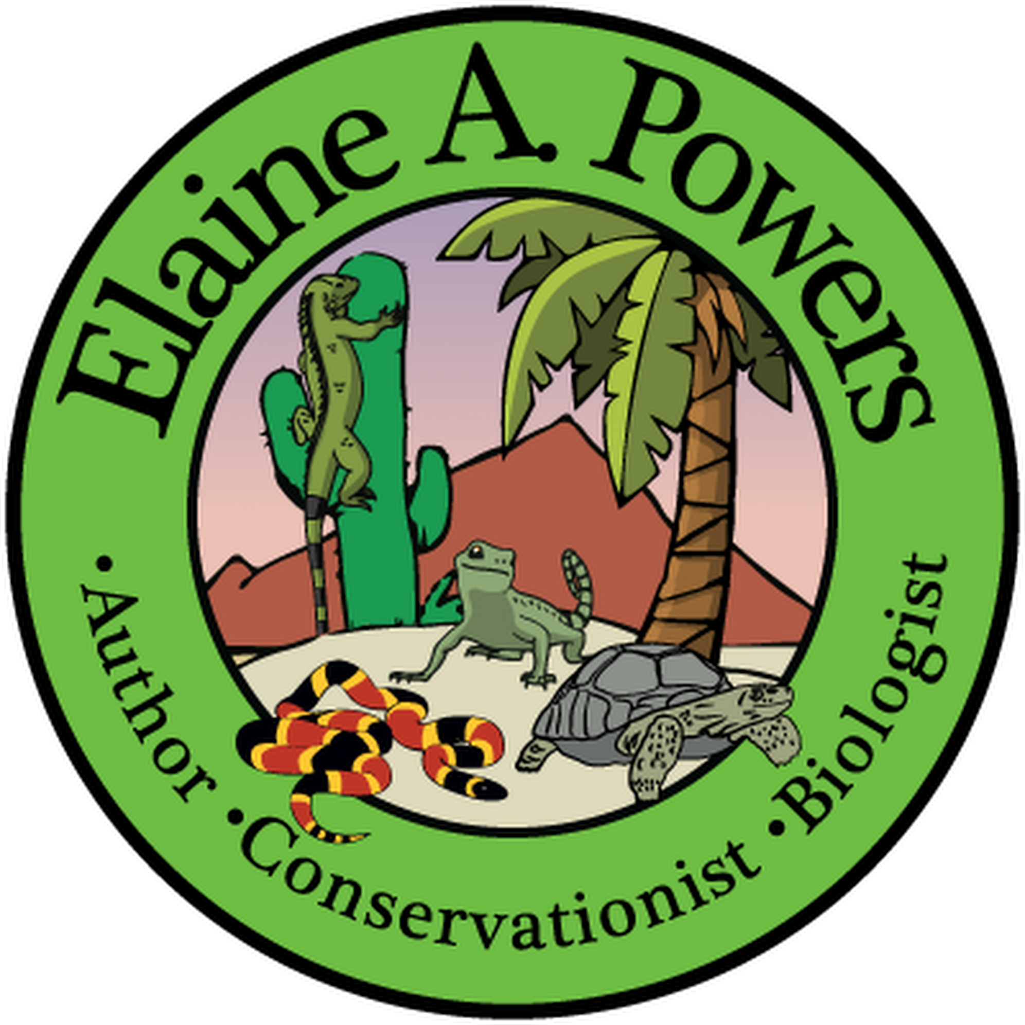 a company logo for author Elaine A Powers