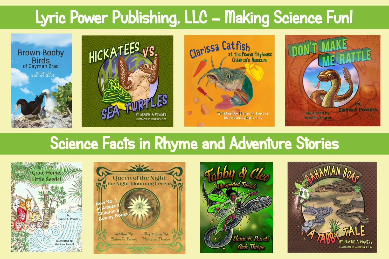 Group of eight books published by Lyric Power Publishing