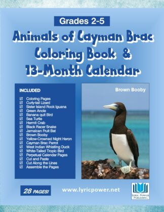 book cover animals cayman coloring book