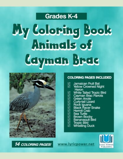 book cover coloring book cayman animals