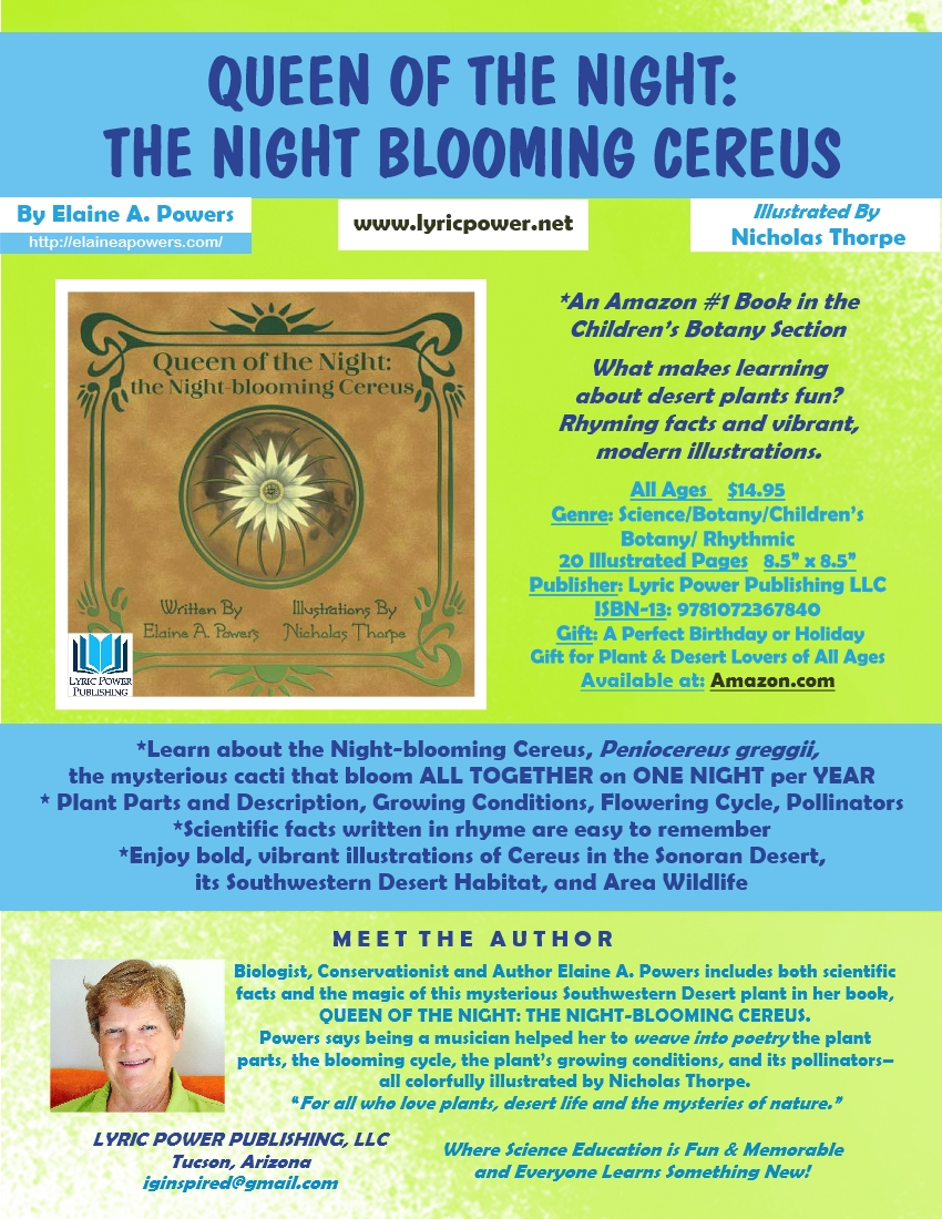 infographic for Queen of the Night the Night-Blooming Cereus